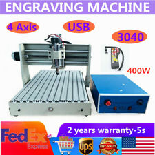 Usb Cnc 3040t Router Engraver 4 Axis 400w Woodworking Drill Milling Machine Rc