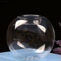 DB12 8CM Round Hollow Crystal Glass Candle Light Holder Dining Room Decoration