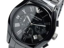 Emporio Armani Men's AR1400 Black Ceramic Chronograph Dial Watch NEW IN BOX