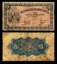 Martinique 5 Francs 1942 1945/1947