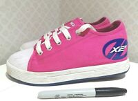 Pink/ navy HEELYS X2 canvas trainers UK 3 ROLLER SKATE SHOES
