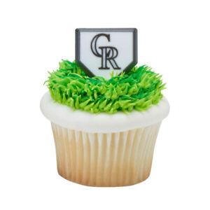 MLB Colorado Rockies Cupcake Topper Rings - 12 Pieces