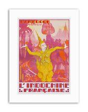 Cambogia INDOCINA Angkor Elefante Ballerino FRANCIA POSTER viaggio tela art prints