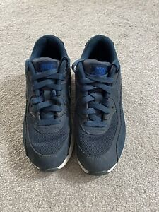 Childrens Trainers Shoes Size 2 Blue Air Max Nike Z3330x