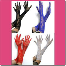 Fashion Fishnet Half Long Gloves Floral Pattern One Size Fits Most