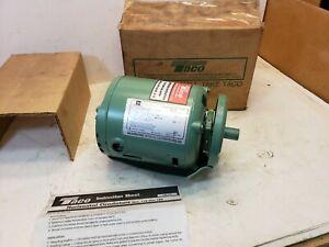 New Taco 110-185RP Single Phase Circulator Pump Motor 115V, 1725 RPM, 1/8 HP