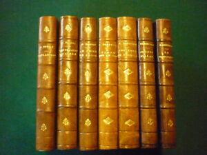 Lot de sept livres livres anciens.