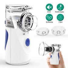 Mini Portable Travel Rechargeable Ultrasonic Inhaler Respirator Mesh