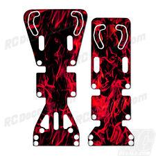 T-Maxx / E-Maxx INTEGY Skid Plate Protectors Digital Flames - Red-Traxxas