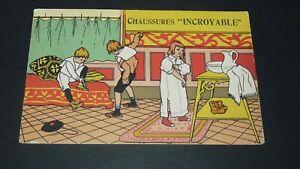 CPA CARTE POSTALE 1909-1910 PUBLICITE CHAUSSURES INCRYABLE PARIS LEVER ENFANTS