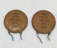 10°C~+85°C 100pc Disc Ceramic Capacitor 102M 4KV 1000pF 0.001uF Z5U ±20/%