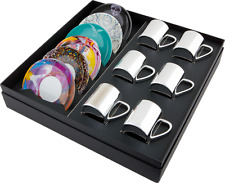 Damien Hirst — Box Set of 6 – Mixed anamorphic cups and saucers
