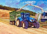 ORIGINAL Tractor Painting - British Handmade Art Original Presale