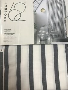 Project 62 Stripe Shower Curtain New