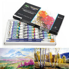 18 Color 5ml Paint Tube Gouache Draw Painting Watercolor 2 Free Paint Brush
