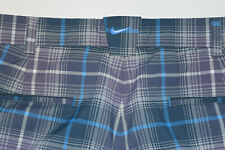 Nike Golf Dri-Fit Tech Tour Performance Pants Purple Blue Plaid Men 34x30---B30