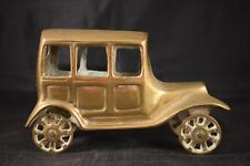 LOVELY VINTAGE BRASS OLD VINTAGE CAR MODEL WITH WORKING WHEELS