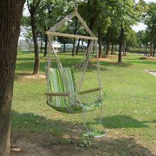 Amaca Sedia a Dondolo in Cotone Poltrona Sospesa Swing Hammock Chair Garden Set