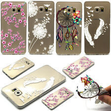 Housse Etui Coque Cover Souple TPU Silicone Protection Transparent 4Motif Désign