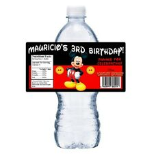 NEW 20 MICKEY MOUSE PERSONALIZED BIRTHDAY PARTY FAVORS ~ WATER BOTTLE LABELS