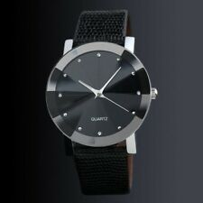 Analog Watch Stainless Steel + PU Leather Strap Man Quartz
