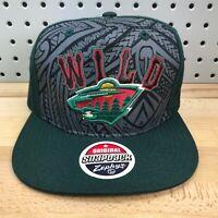 Minnesota Wild NHL Hockey Zephyr Original Snapback Pattern Style Cap Hat EUC