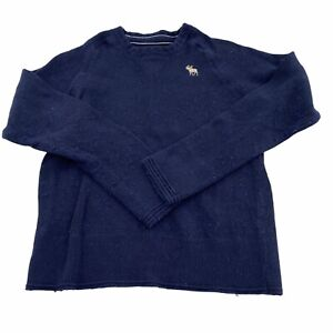 Abercrombie Boys Crew Neck Sweater Navy Blue Large