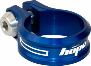 Bolt - Hope Bolt Seat Clamp, 31.8mm, Blue - Seatpost Clamp