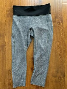 Lululemon Women Run The Day Crop Pants High Rise LUXTREME FDSB  size 8