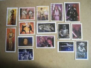 USA Used, 2007 Issue, 41 Cent Star Wars, Set of 15 Scott #4143a-o