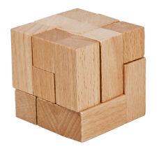 "Fridolin IQ Test Holzpuzzle in Plexiglaswürfel ""L-Würfel"""