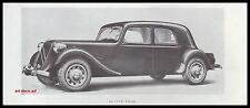 Publicité  Citroen 15 cv  Traction Avant car  photo vintage ad  1946 - 2h
