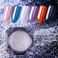Gemstone Pearl Mermaid Mirror Powder Dust Silver Shining Nail Glitter Decoration