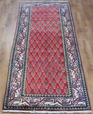 Persian Traditional Vintage Wool 294cmX93cm Oriental Rug Handmade Carpet Rugs