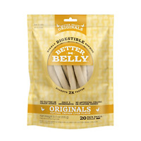 Better Belly Rawhides for Dogs, Digestible Rawhide Dog Chews, No Artificial C...