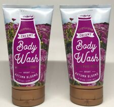 2 Bath & Body Works Bright Autumn Blooms Creamy Body Wash 8 fl.oz W/ Pure Honey