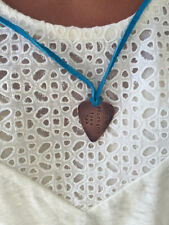 I Plucking Love You - Antique Distressed Copper Guitar Pick Hand Stamp Necklace