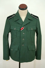 TAILORED WWII German M37 elite SS-VT EM summer HBT reed green field tunic