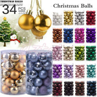 34PC 40mm Christmas Xmas Tree Ball Bauble Hanging Home Party Ornament Decor New