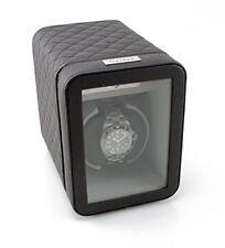 SALE Heiden Monaco Single Watch Winder Black Leather Battery Powered or AC Boxes