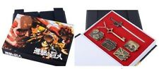 Attack On Titan Anime 6 pcs set in the Gift Box (Pins and Necklace)