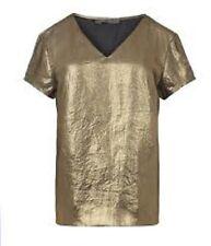 AllSaints Metallic Gold Camile Shinco tee size 10 BNWT