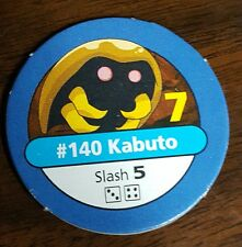 Pokemon Master Trainer #140 Kabuto Slash Blue Pog Playing Chip Pog 1999