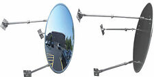"""The Best 26""""Acrylic Outdoor Convex Mirror with 3 Adjustable Mounting Brackets"""