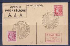 n/ carte   24è  exposition  art  et philatélie  Auxerre    1947