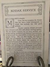 Kodak Camera 1914 Catalog W/ Cameras Lenses Accessories Chemicals Supplies