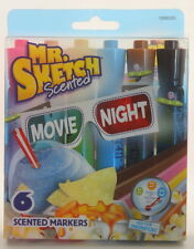 Mr. Sketch Scented Watercolor Marker Chisel Tip  6 Movie Night Colors 6/Set