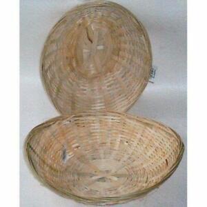"""Whole Sale/Job Lot Wicker Oval Bread Baskets 10 """"(25cm) Pack of 12"""
