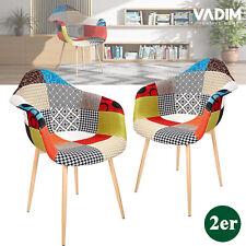 2er Set Esszimmerstühle Patchwork Stühle Wohnzimmerstuhl Küchenstühle Bürostuhl