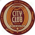 """SCHMIDT'S CITY CLUB BEER 11.75"""" ROUND METAL SIGN"""